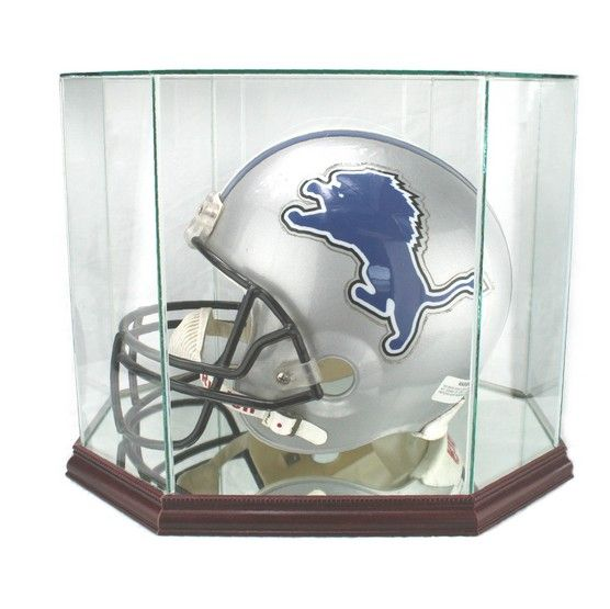 FOOTBALL HELMET OCTAGON DISPLAY CASE